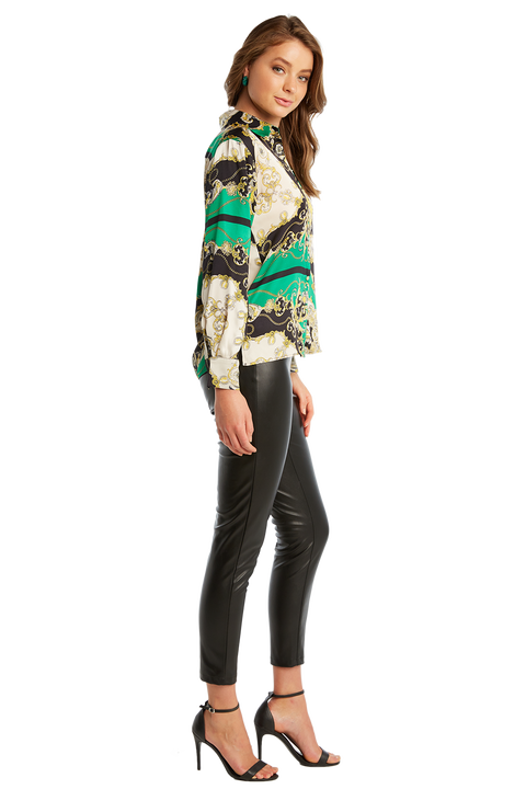SCARF PRINT SHIRT in colour CLASSIC GREEN