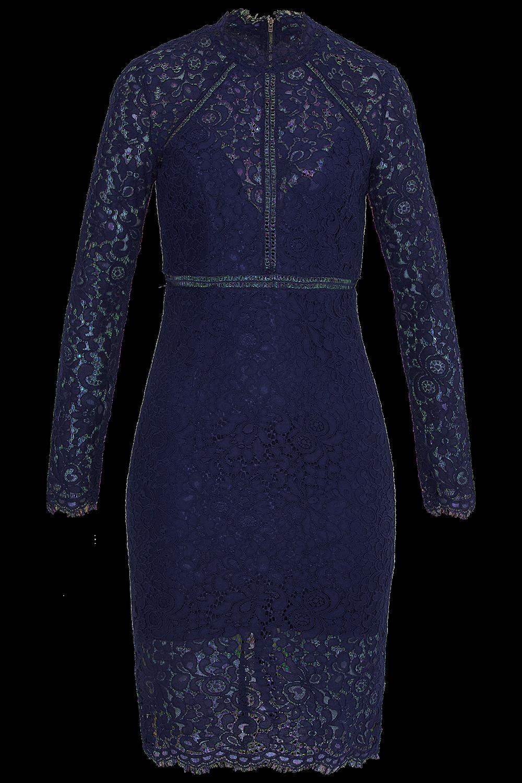 ROZIE LACE DRESS in colour MARITIME BLUE