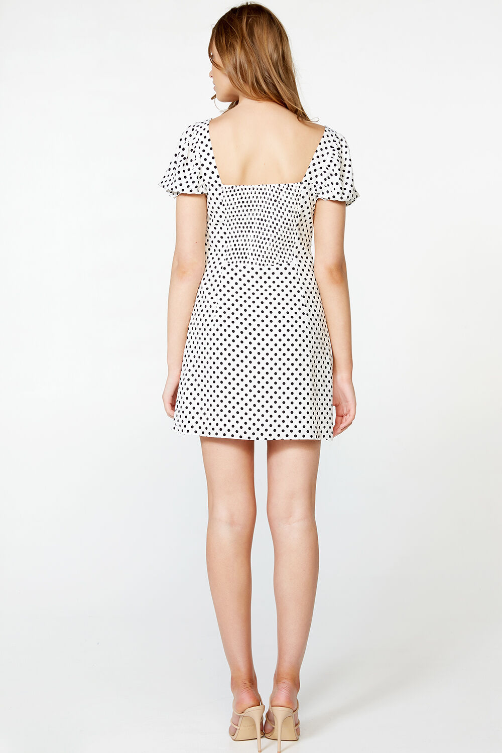 PRESLEY MINI DRESS in colour CLOUD DANCER