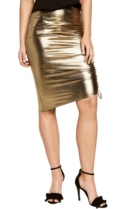 DEEVA SKIRT in colour PALE GOLD