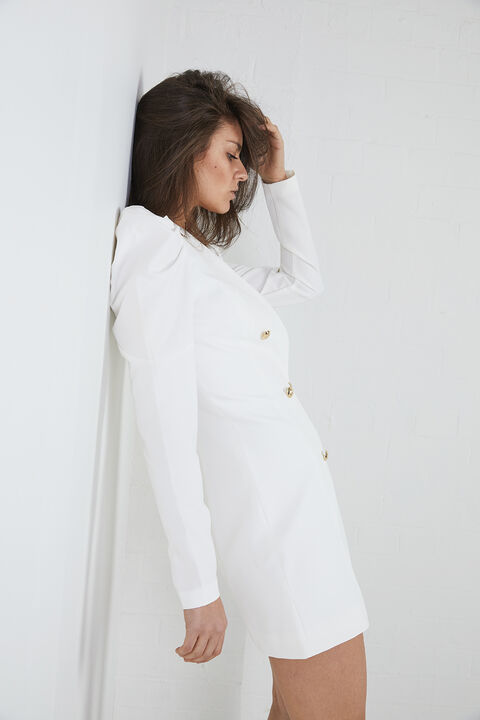 BRITT BLAZER DRESS in colour CLOUD DANCER