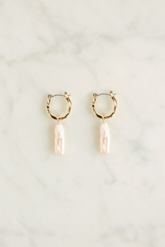 PEARL DROP EARRING in colour GOLD EARTH