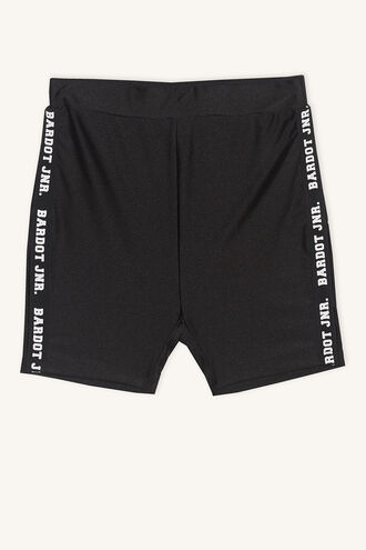 BIKE SHORT in colour JET BLACK