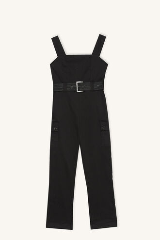 LARA BELTED JUMPSUIT in colour JET BLACK