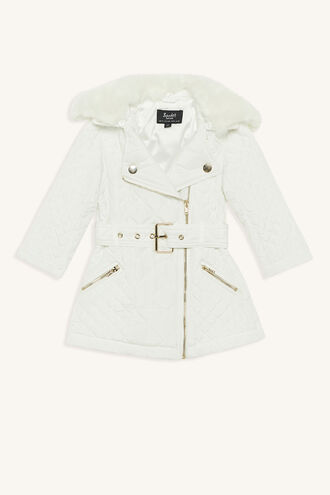QUILTED COAT in colour CLOUD DANCER