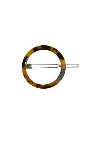 ROUND CLIP in colour TORTOISE SHELL