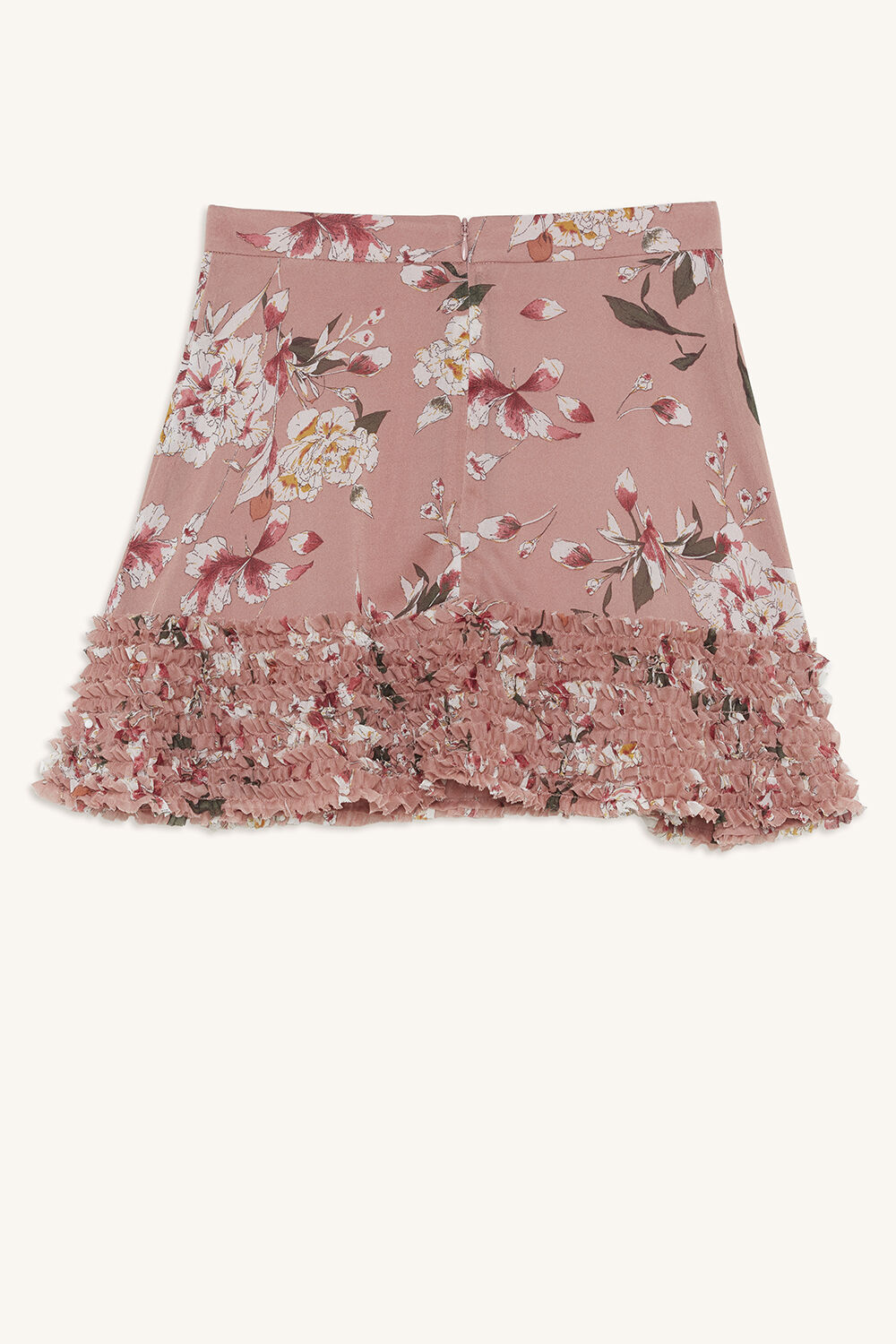 LOLA FRILL SKIRT in colour PINK NECTAR