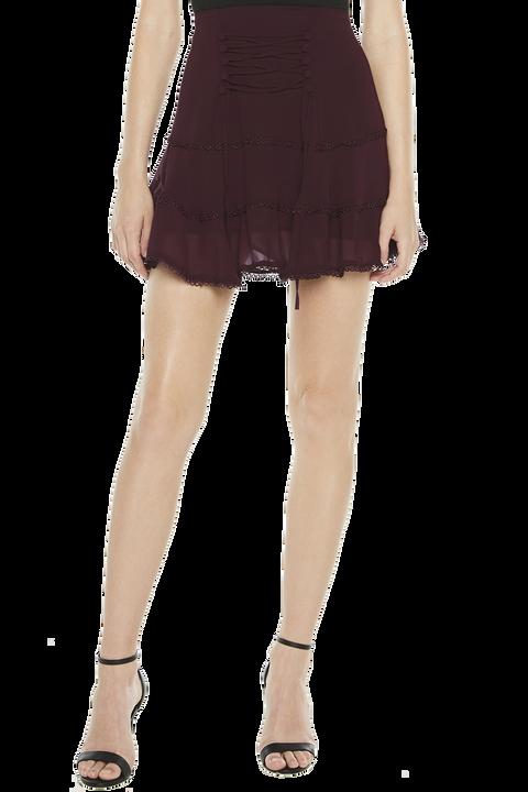ANNA FLUTTER SKIRT in colour WINETASTING
