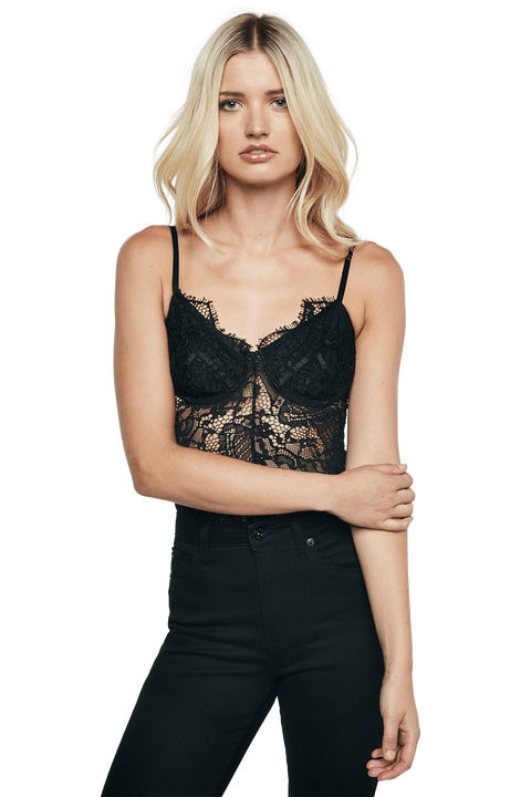 BRITNEY BODYSUIT in colour CAVIAR