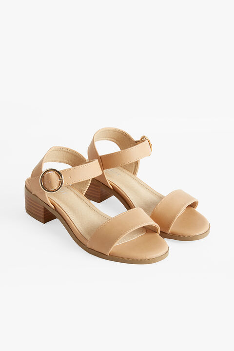 CALLIA BUCKLE HEEL in colour TAN