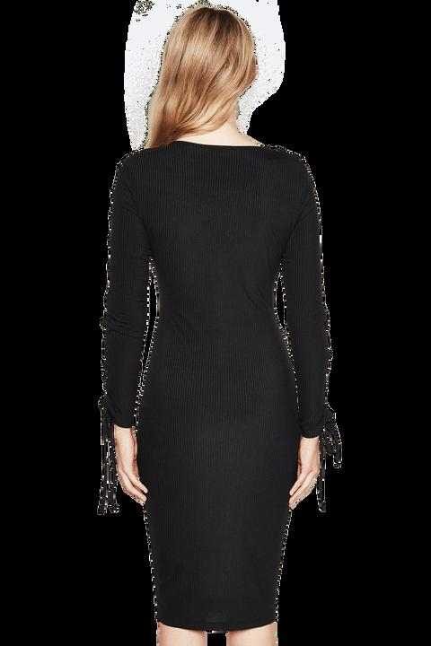 RENEE RIB DRESS in colour CAVIAR
