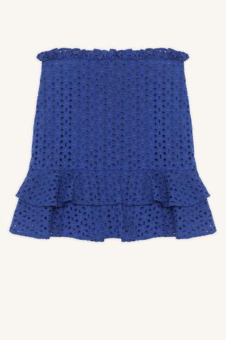 MINA RUFFLE SKIRT in colour CLASSIC BLUE