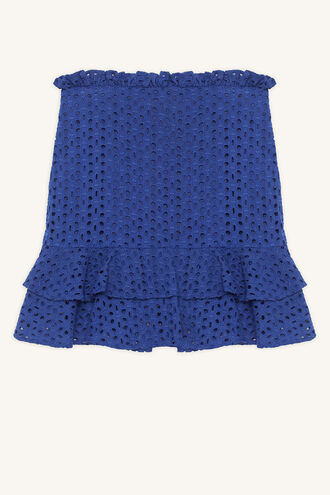MINA RUFFLE SKIRT in colour CLASSIC BLUE
