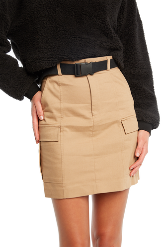 RILEY CARGO SKIRT in colour TAN