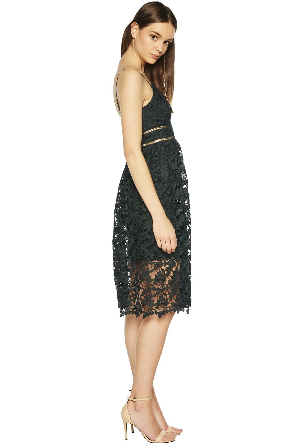 SONYA LACE DRESS in colour GREEN GABLES
