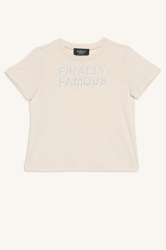 FAMOUS TEE in colour PRIMROSE PINK