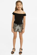 SEQUIN SPORT SHORT in colour LUNAR ROCK