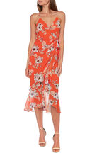 LORETTA MAXI DRESS in colour JAFFA ORANGE