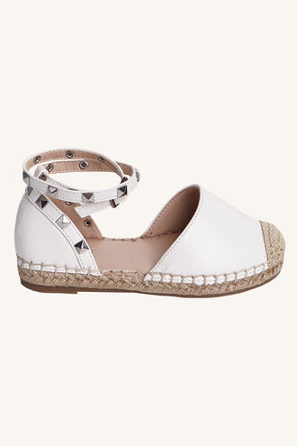 STUDDED ESPADRILLE in colour WHITE ALYSSUM