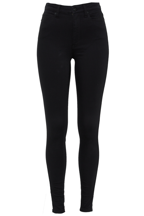 KHLOE SUPER HIGH TALL JEAN in colour CAVIAR