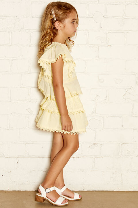CHLOE RUFFLE TOP in colour TRANSPARENT YELLOW