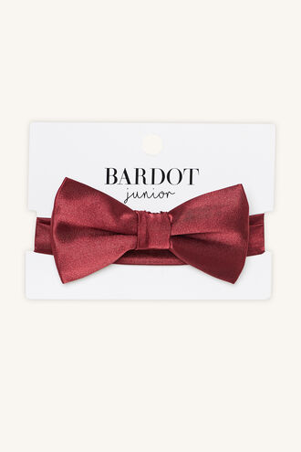 JORDY SPOT BOW TIE in colour HAUTE RED