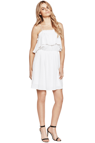 CHELSEA DRESS in colour BRIGHT WHITE