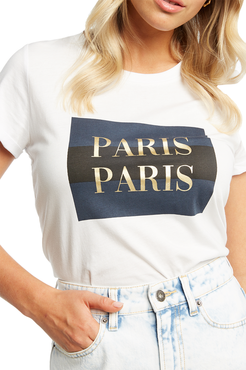 PARIS TEE in colour BRIGHT WHITE