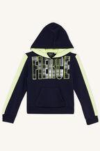 FIERCE HOODY in colour BLACK IRIS