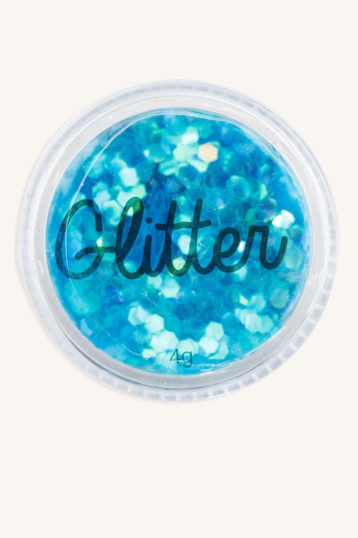 GLITTER POTS in colour BRIGHT WHITE