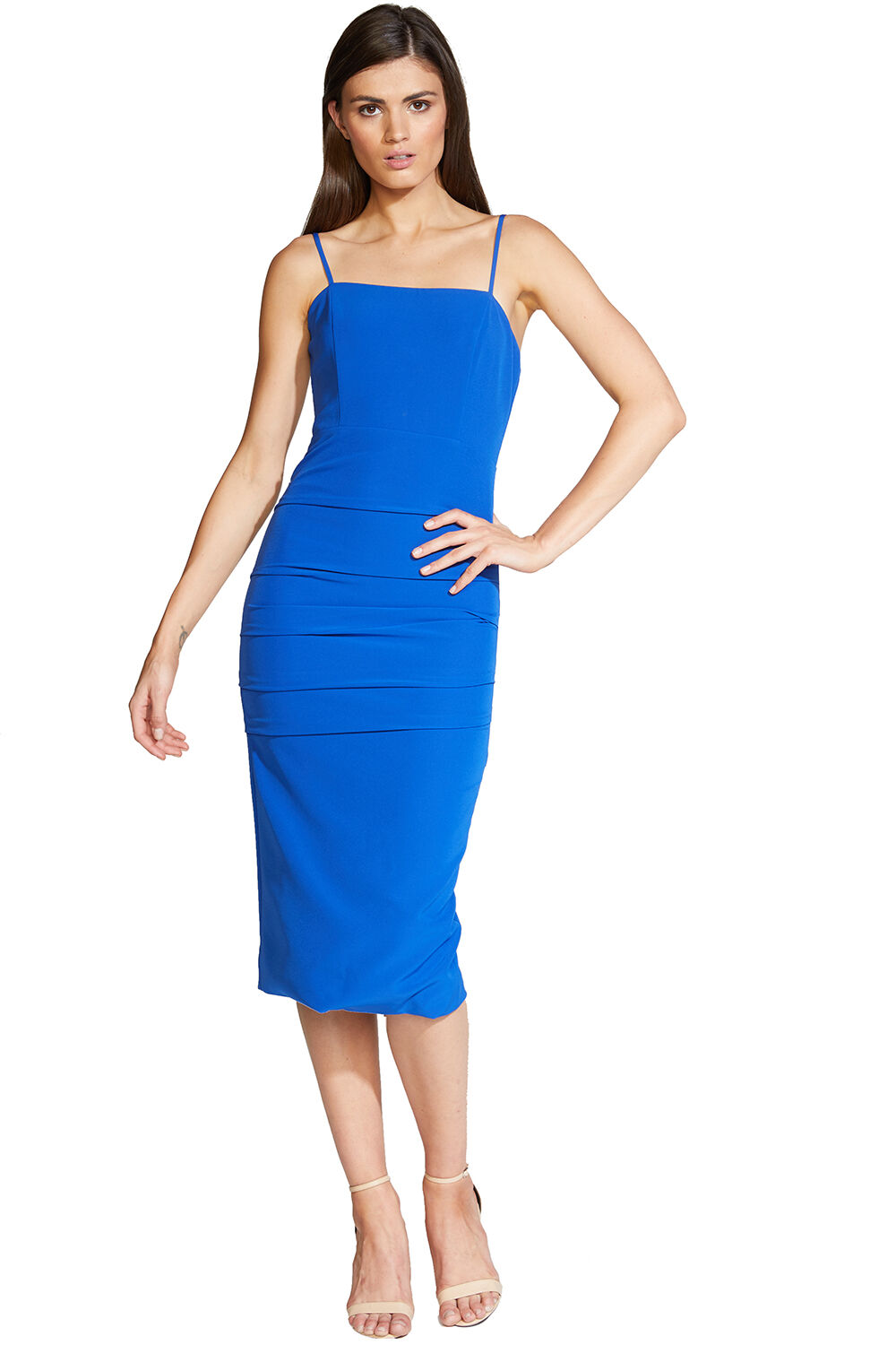 BRIELLE MIDI DRESS in colour SURF THE WEB