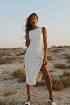 MEDEIRA DRESS in colour BRIGHT WHITE