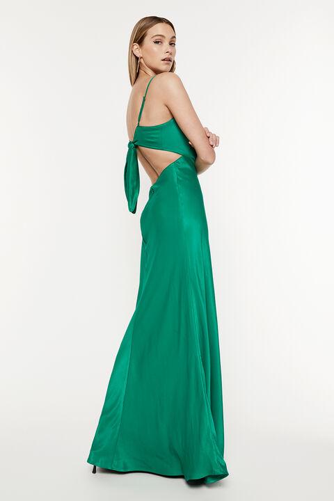 KARLOTTA SLIP DRESS in colour CLASSIC GREEN