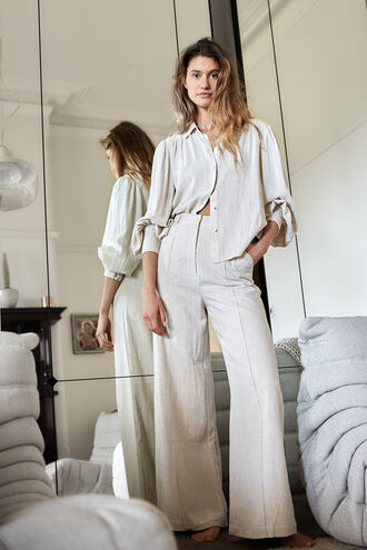 PIN TUCK PANT in colour FOG