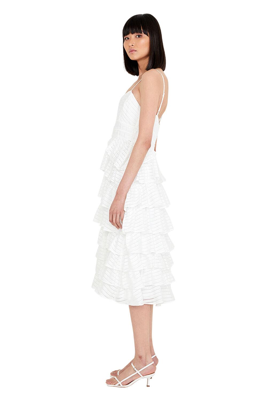 PANEL FLOW DRESS in colour CLOUD DANCER