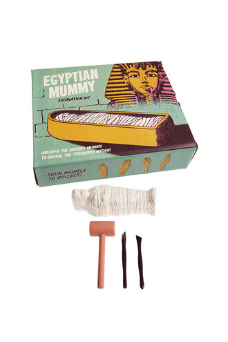 Egyptian Mummy Excavation Kit in colour BRIGHT WHITE