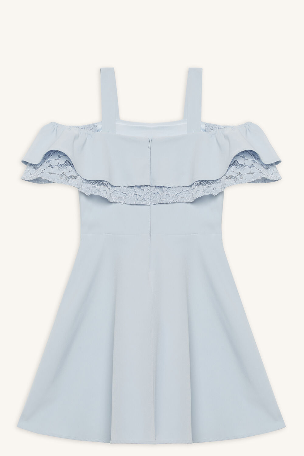 JUNE FRILL DRESS in colour BALLAD BLUE