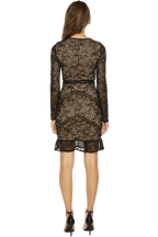 SASHA LACE DRESS in colour CAVIAR
