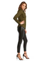 SKINNY PU PANT in colour CAVIAR