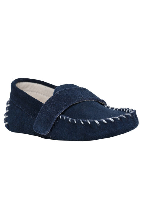 BENNY BABY LOAFER SHOE in colour BLACK IRIS