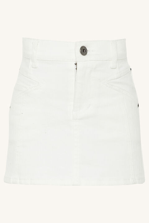 ANGIE DENIM MINI in colour BRIGHT WHITE