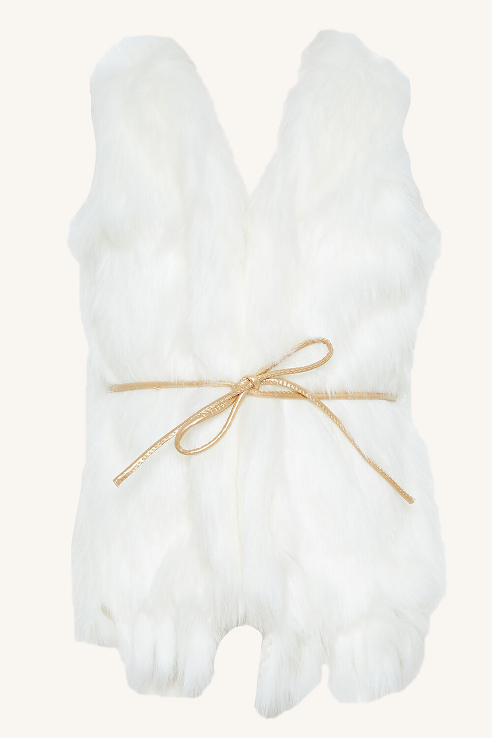 JUNIOR GIRL ISLA FAUX FUR VEST in colour CLOUD DANCER
