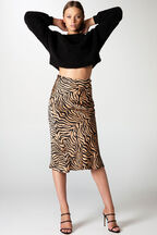 MAYAH SPLICED SKIRT in colour TAPIOCA