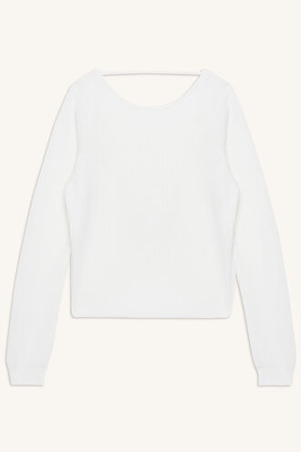 KNOT BACK SWEATER in colour CLOUD DANCER
