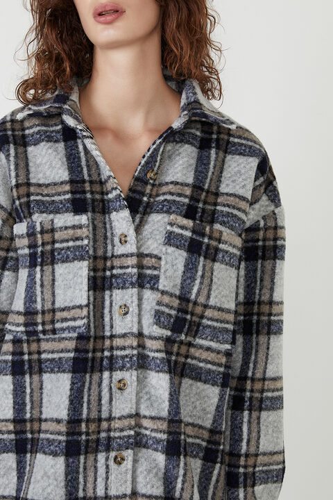 CHECKED FLANNEL SHIRT in colour ANGEL FALLS
