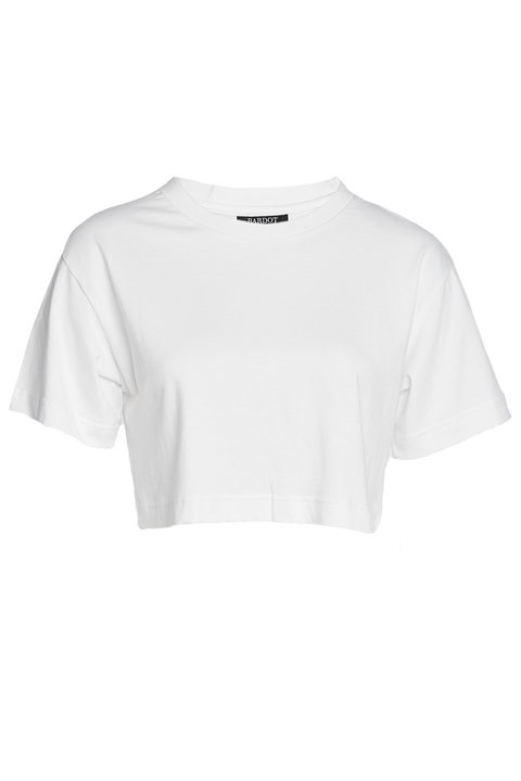 CROP TEE in colour BRIGHT WHITE