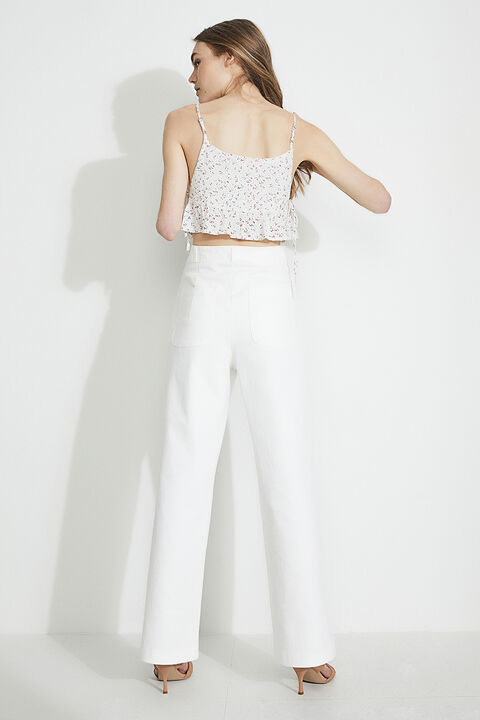 MINI DITSY TOP in colour SNOW WHITE