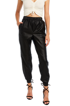 PU JOGGER PANT in colour CAVIAR