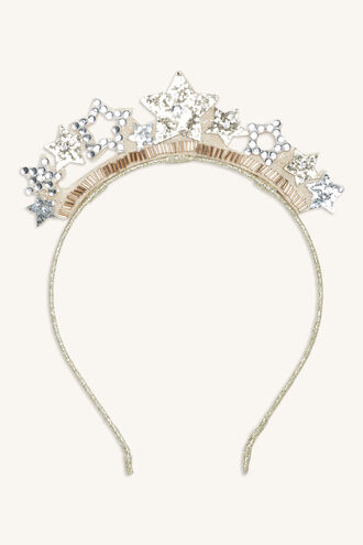STAR CROWN HEADBAND in colour GOLD EARTH