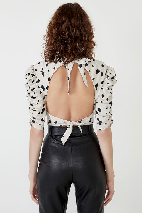 AMELIE BACKLESS TOP in colour GOLDEN GLOW